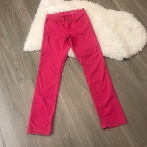 Lilly Pulitzer Main Line Straight Leg Pink Jeans